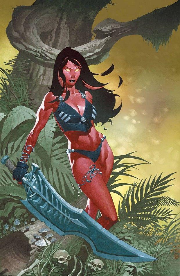 Red She-Hulk by Chris Stevens