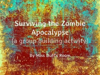 """""""The Zombie Apocalypse has reached our school..."""" Great Back to School activity for the older grades!"""