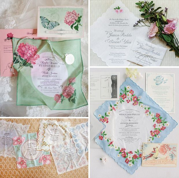Hankie wedding invites | The top 10 wedding stationery trends for 2016 | www.onefabday.com