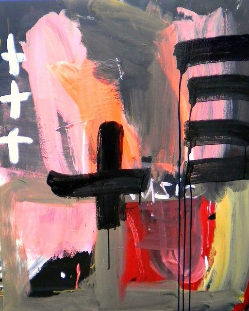 Shohei Hanazaki is on the forefront of the raw avant garde new art wave coming out of Asia. His paintings are raw and expressive.