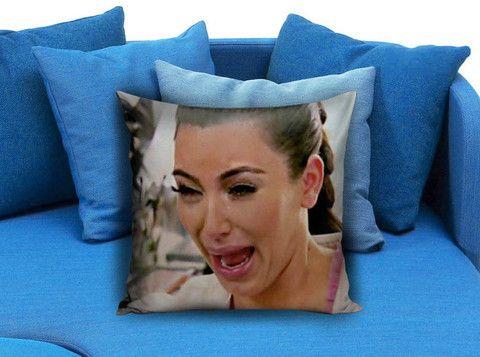kim kardhasian crying face Pillow case #pillowCase #PillowCover #PillowCaseDecorative  #ThrowPillowCase