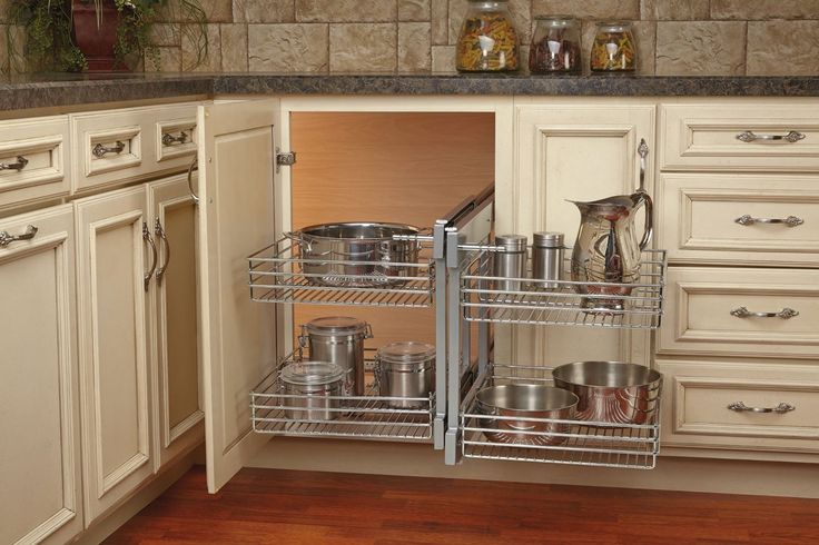 Get Creative With These Corner Kitchen Cabinet Ideas: 18 In. Blind