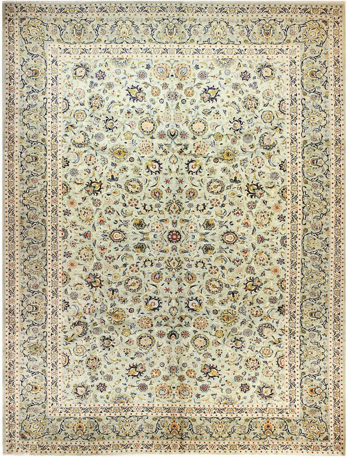 Bb Rugs Kashan 615180 Light Green 9 11 X 13 3 Area Rug Rugs