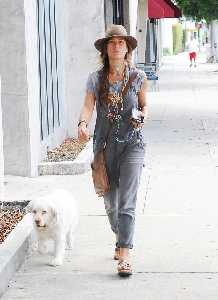 RHONA MITRA Walks Her Dog Out in Los Angeles 10/05/2015
