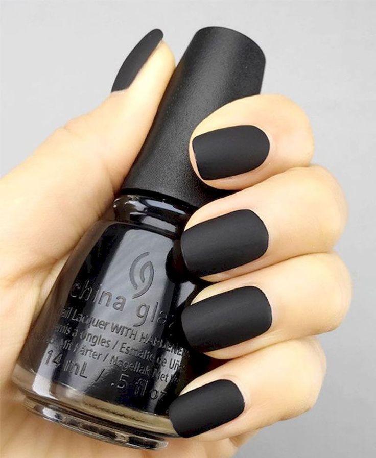 57 Elegant Black Nail Art Designs that You'll Love #Art #Bellestilocom #black #black nail #Designs #Elegant #kylie jenne…