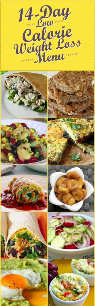 14 Day Low-Calorie Weight Loss Menu some really yummy recipes on here