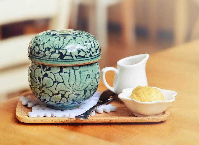 Korean Herbal Jujube Ginseng Tea ~ Cafe Maji, Arcadia, California
