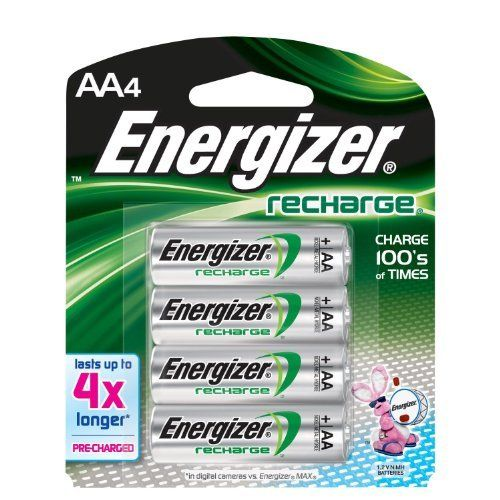 Energizer AA NIMh Rechargeable Batteries 4 Pack - NH15BP4 by Batteries. $6.99. Nickel-Metal Hydride Rechargeables Battery For  AA. Save 72%!