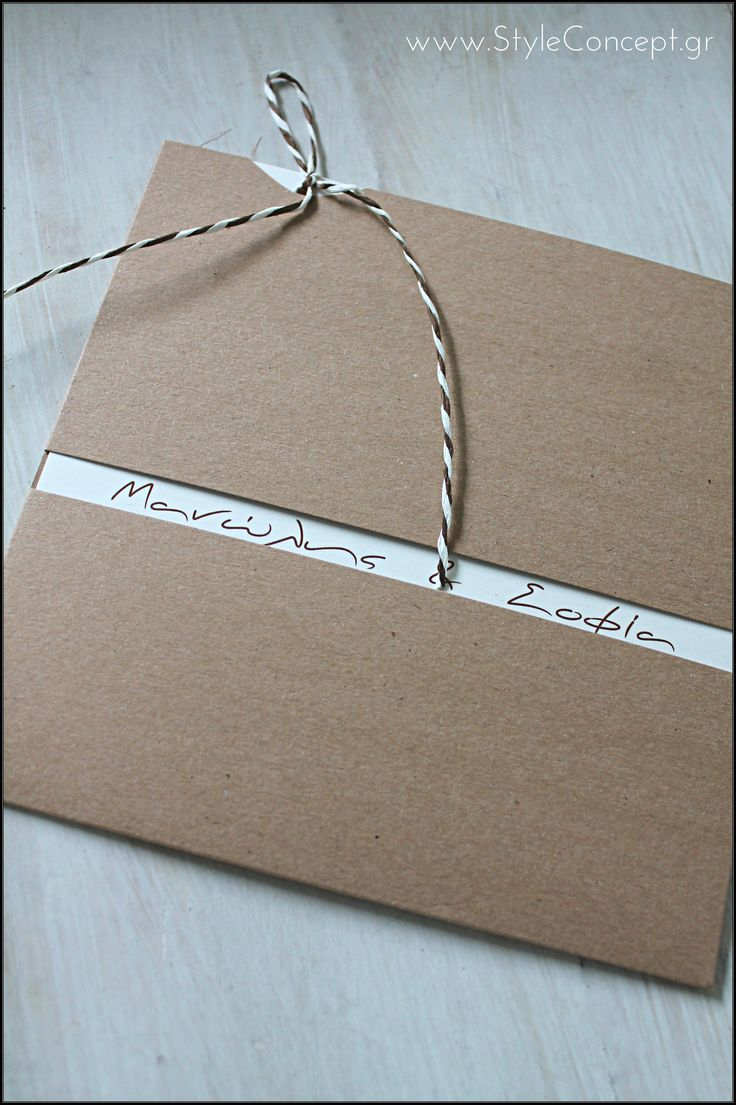 Love the tiny window that the names of the couple appear through the craft envelope. Lovely invitation!