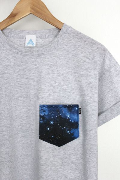 AND Galaxy Pocket Tee I should use up that galaxy dress with things like this