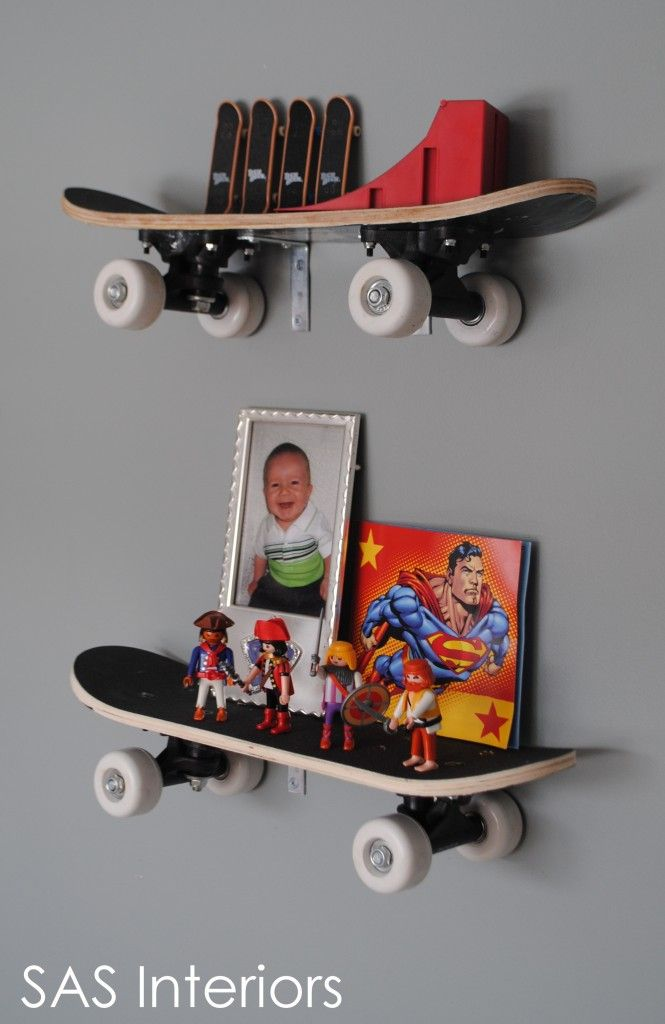 Cute shelf idea. Even Dad will love this.