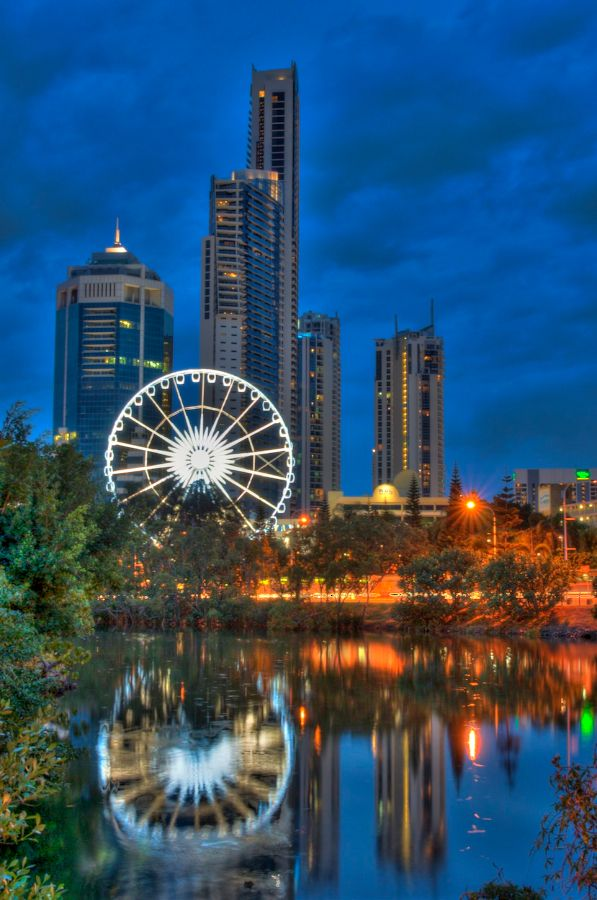 The Wheel of Surfers Paradise, an icon where you can view the goregous city skyline, and the greater Gold Coast hinterland #surfers #surfersparadise #GC #GoldCoast #Beach #beachlife #sun #sand #qld #queensland #australia
