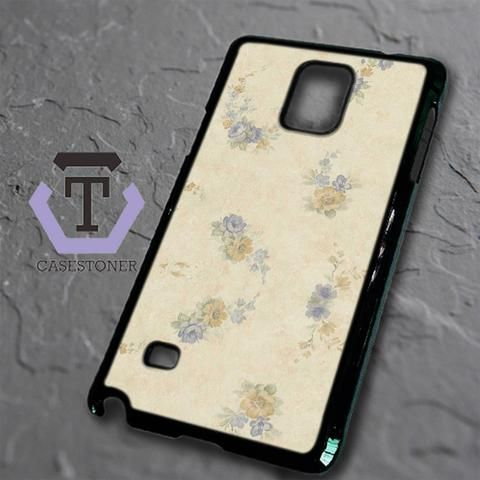 Blue Orange Floral Samsung Galaxy Note Edge Black Case