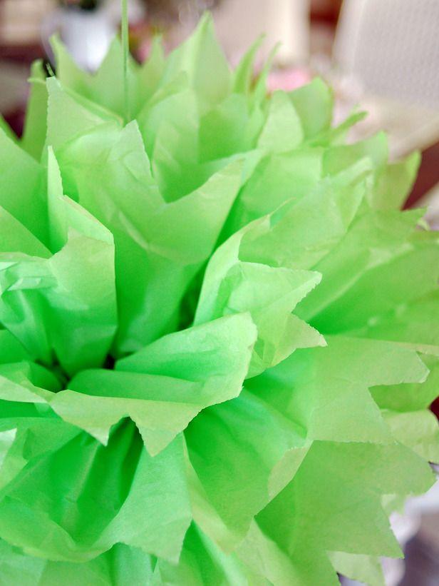 How to Make Tissue Pom-Poms : Decorating : Home & Garden Television