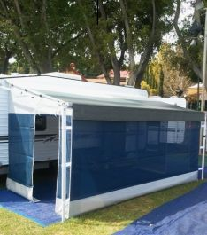 I'd really like to get an awning like this for my trailer. I've been looking to get new upgrades and accessories for my trailer so when my family goes camping, it'll be more interesting. I've been promising my wife that I would get an awning for it, but haven't gotten around to it.