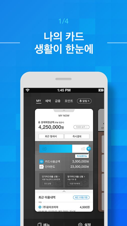 삼성카드- 스크린샷