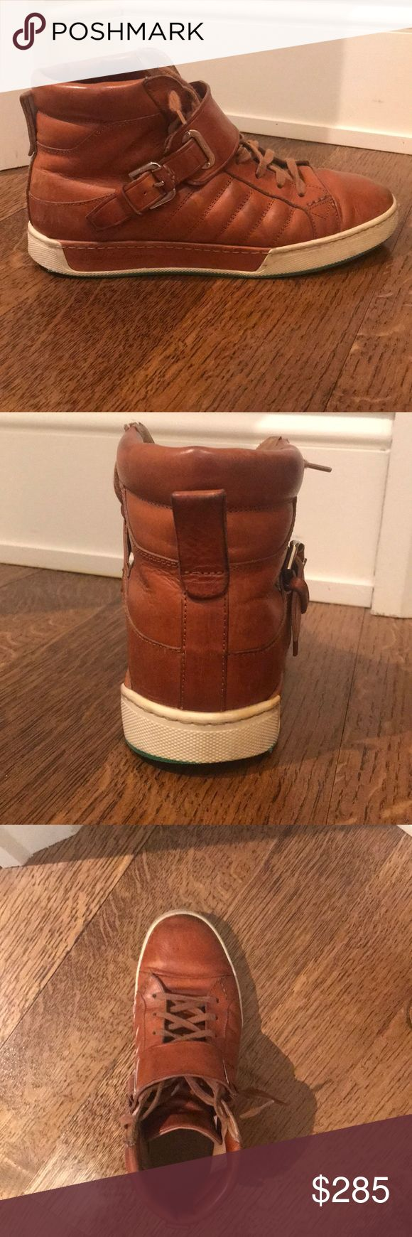 Ralph Lauren purple label leather high tops. $980 Purchased at Bal Harbour mall. Fits true to size. Has some signs of wear and tear. Cannot be found anywhere else. Make offers. Looks good with any pair of skinny jeans Ralph Lauren Purple Label Shoes Sneakers