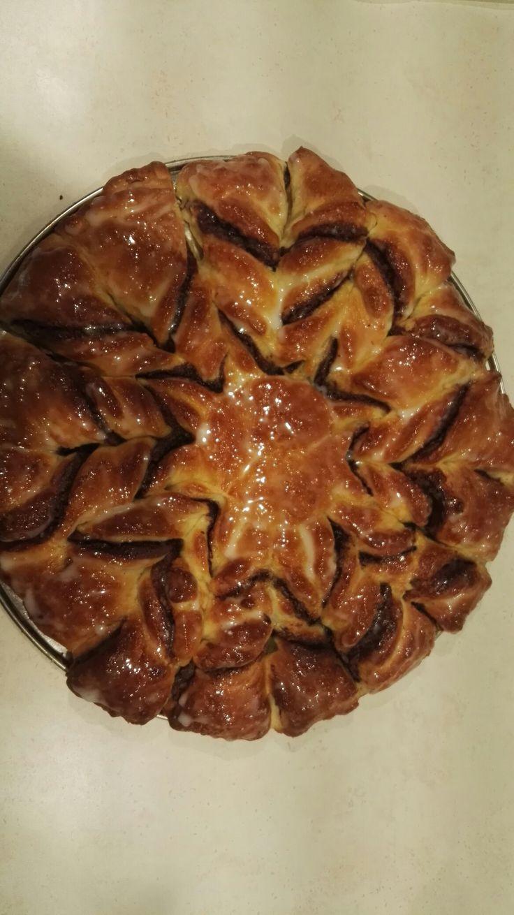 Ciasto drożdżowe gwiazda z makiem