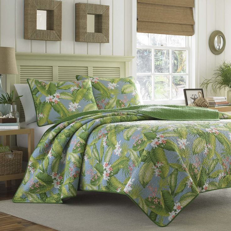 3-Piece Aregada Dock Cotton Quilt Set by Tommy Bahama