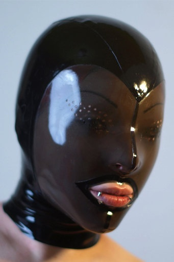 Latex Hood rubber mask 5 pannel form fitting many sizes and colors Perforated Eyes. $99.00, via Etsy, Latex Nemesis