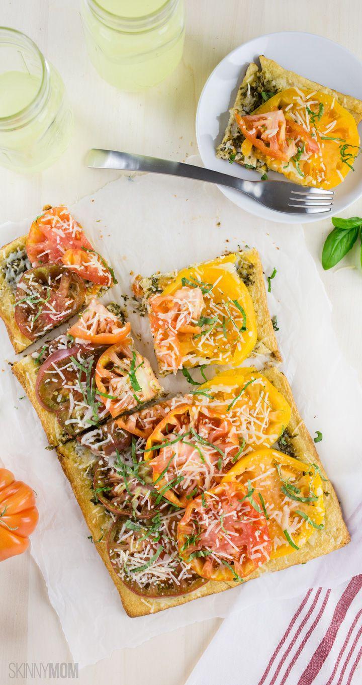 Heirloom Tomato & Pesto Tart: 165 calories | 5 SmartPoints