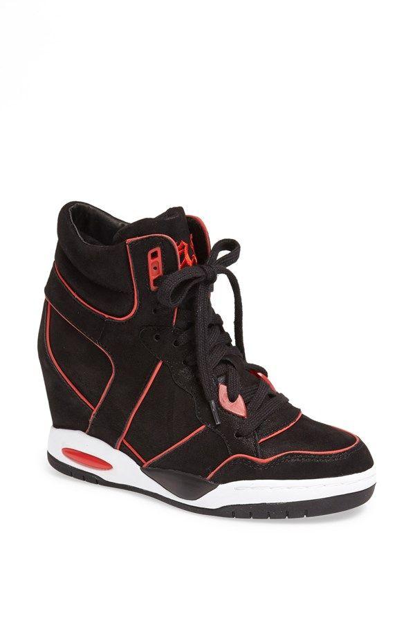 Ash Best Hidden Wedge Shimmer Suede Sneaker
