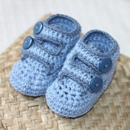 Baby Boy crochet shoes...