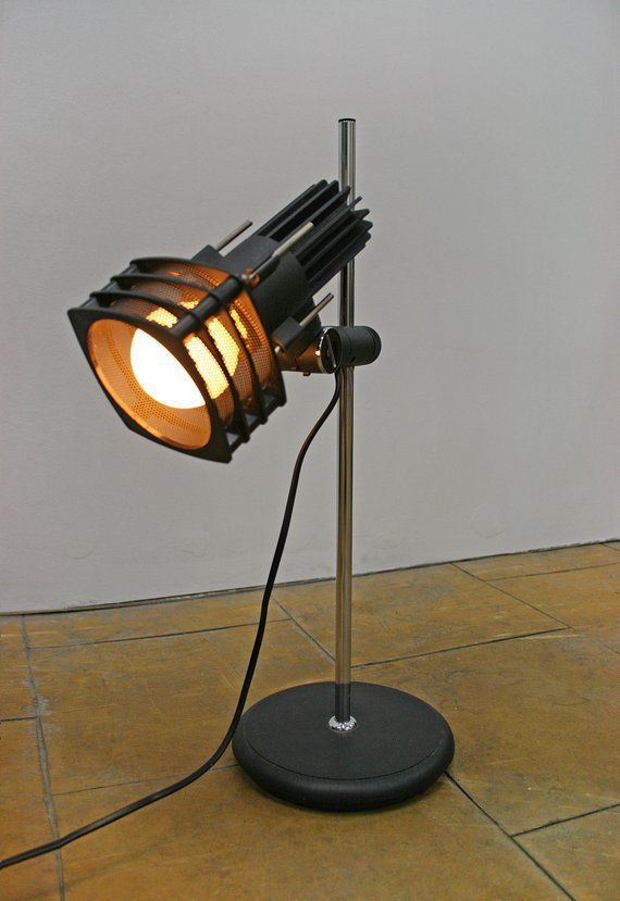 Vintage Black Industrial Adjustable West German Desk Lamp Lamp Desk Lamp Black Industrial