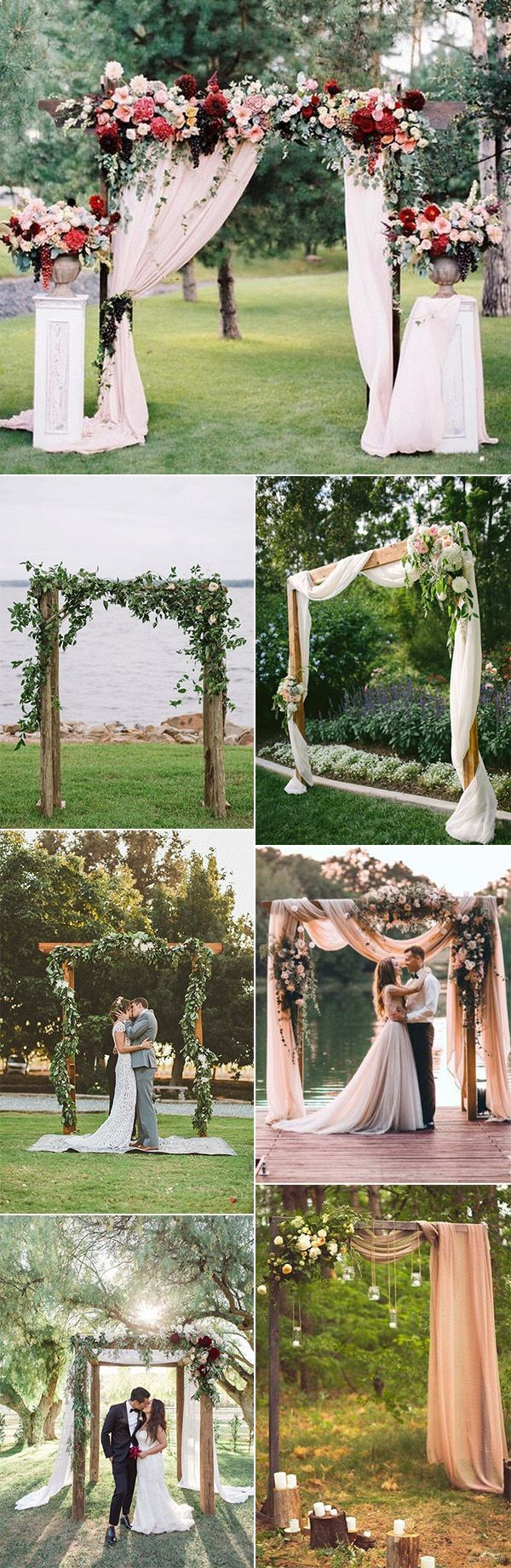 outdoor wedding ceremony arch decoration ideas for 2018 #OutdoorWeddings