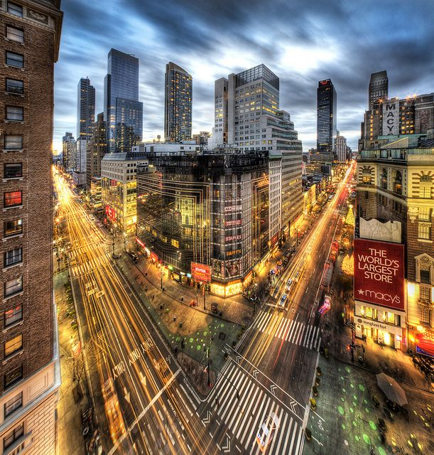 Herald Sqaure in Manhattan by Tony Shi., via Flickr