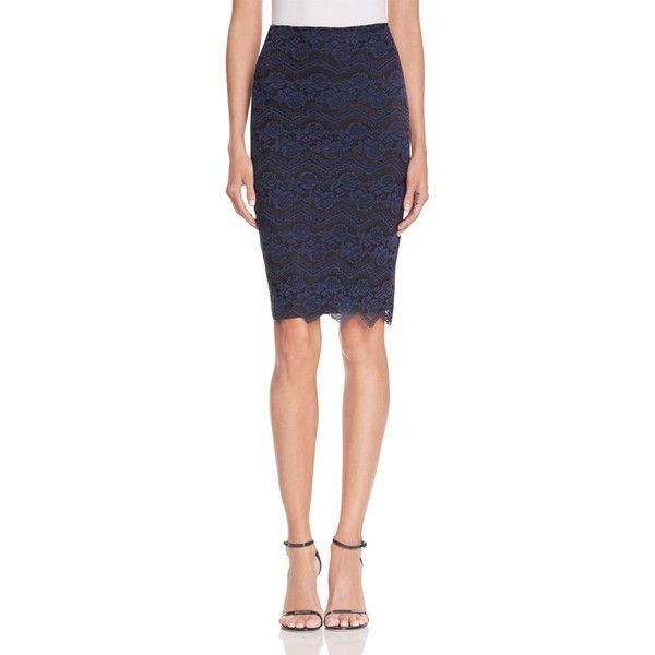 Aqua Zigzag Lace Pencil Skirt ($72) ❤ liked on Polyvore featuring skirts, navy, navy pencil skirt, floral print pencil skirt, navy blue pencil skirt, navy blue lace skirt and lace skirt