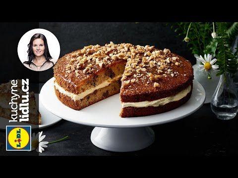 Ořechový dort - Markéta Krajčovičová - RECEPTY KUCHYNĚ LIDLU - YouTube