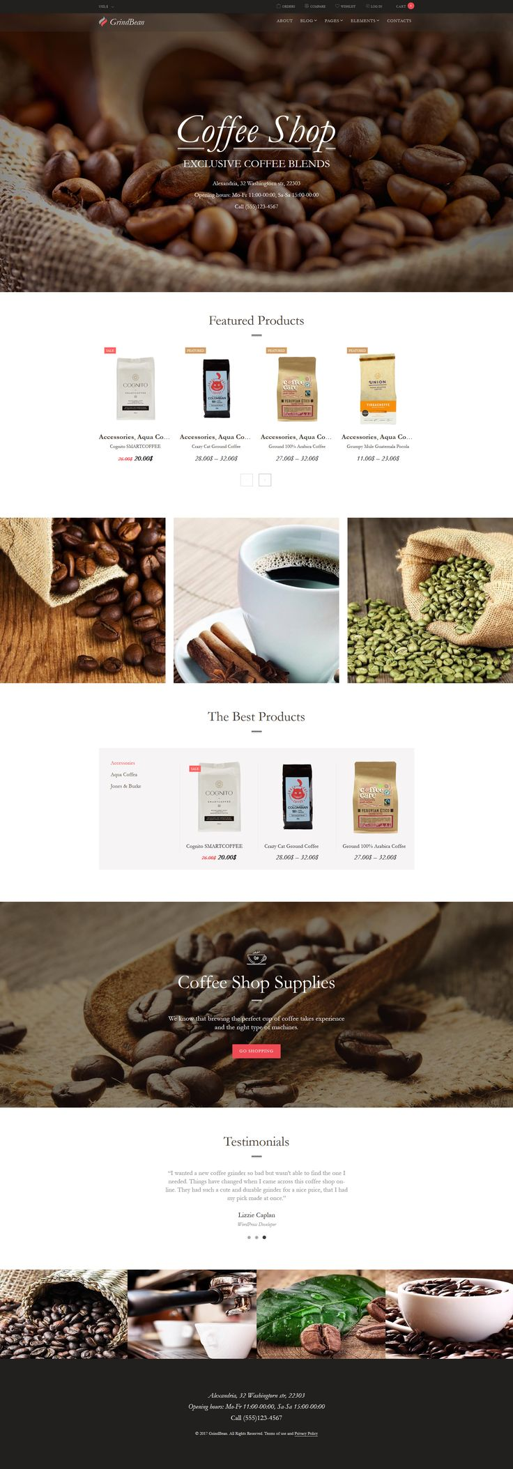 GrindBean - Coffee Shop WooCommerce Theme #64026