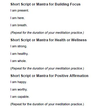 four guided meditation scripts