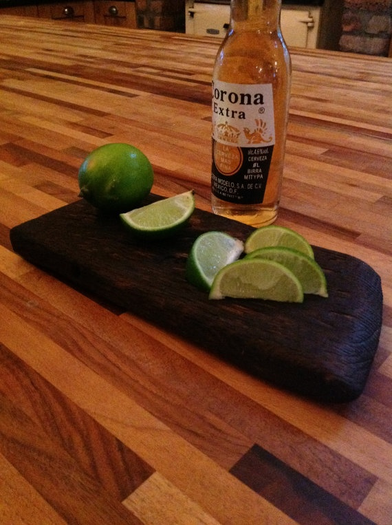 Chunky Oak Lime/Lemon Board upcycled from old Irish by Touchedwood, £15.00