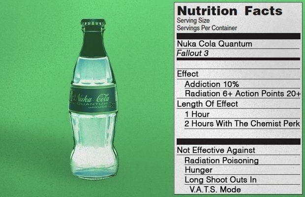 Nutrition Facts - Nuka-Cola