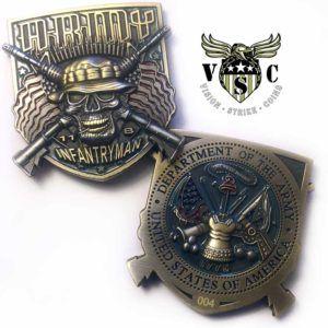 11 Bravo Infantryman US Army MOS Coin