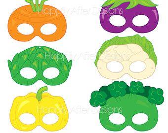 Fruits Printable Masks strawberry mask por HappilyAfterDesigns