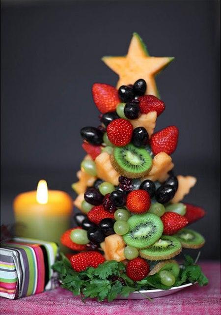 Fruit Christmas Tree..Fun for you and easy to do! :-) #christmas #tree #fruit