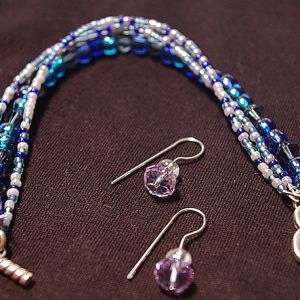 I've Got The Blues Bracelet and Earrings