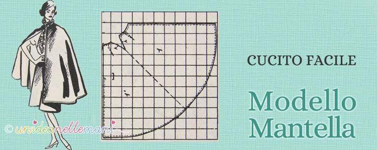 Cartamodello mantella: ecco un utile schema per fare una mantella per donna o bambina o per costumi mascherati.
