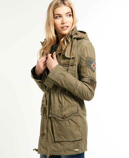 superdry surplus parka women 39 s jackets coats shoes. Black Bedroom Furniture Sets. Home Design Ideas