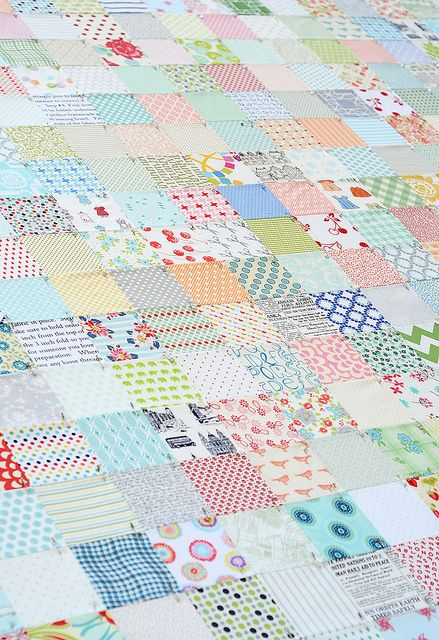 low volume quilt by Camille Roskelley