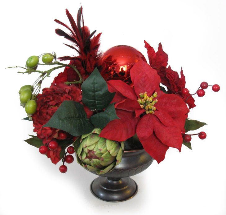 1000 images about emerton house large floral on pinterest for Poinsettia arrangements