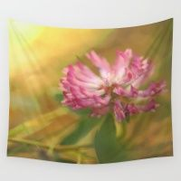 Clover Flower In Romanti… Wall Tapestry