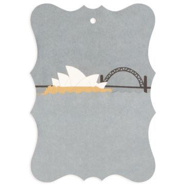 Gift tag Sydney - Bobangles #SundayPaper #Australia #gift #tag #Sydney