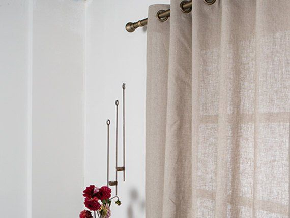 Linen Curtain Extra Large Curtain Washed Linen Panel Linen Panel