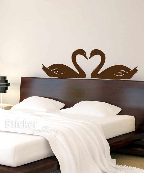 Swans shaping a heart - Decoration with vinyl wall decals