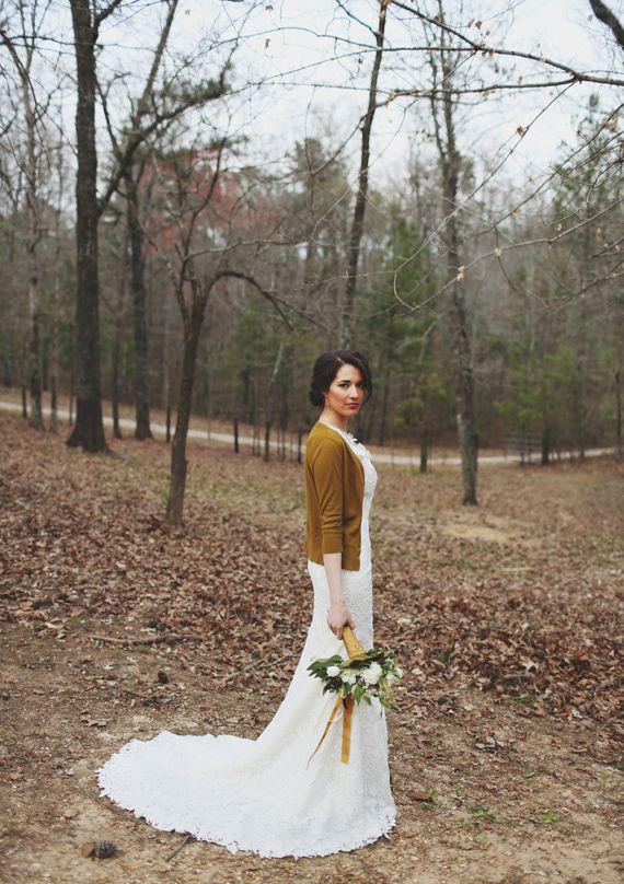 cardigan love // Woodland wedding inspiration | photos by W & E Photographie | 100 Layer Cake