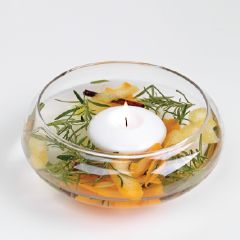 DIY Citronella Floating Candle Bowl For The Outdoors - All Natural & Good
